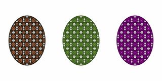 Isolated Easter Egg, Colorful stock illustration
