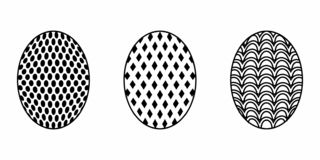 Isolated Easter Egg stock illustration