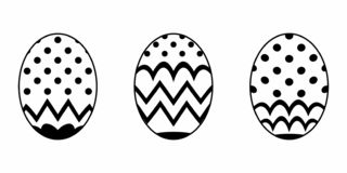 Isolated Easter Egg royalty free illustration