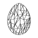 Isolated easter egg Royalty Free Stock Images