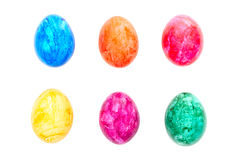 Isolated easter eggs Stock Images