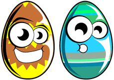 Isolated Easter eggs cartoon Royalty Free Stock Photo