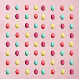 Isolated Easter Eggs Over Pink Stock Photos