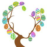 Easter eggs tree with copy space Stock Image