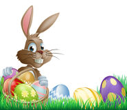 Isolated Easter footer design Stock Image