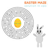Isolated Easter maze (with solution in eps) Stock Photos