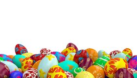 Easter eggs 3d stock illustration