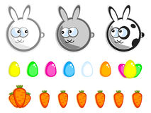 Isolated Easter set Royalty Free Stock Images