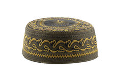 Isolated eastern hat. Traditional middle eastern hat with embroidery Royalty Free Stock Photography