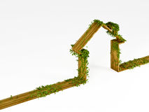 Isolated eco house Royalty Free Stock Images