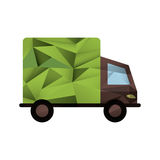 Isolated eco truck design Royalty Free Stock Photos
