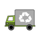 Isolated eco truck design Royalty Free Stock Image