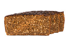 Isolated ecological five grains brown bread Royalty Free Stock Images