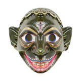 Isolated Ecuadorian Ethnic Mask. Ecuadorian indian tribal wood mask with funny expression isolated in white background Royalty Free Stock Images