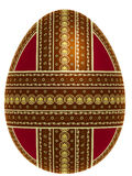 Isolated egg with cross belts of ornament Stock Photography