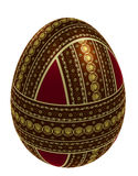 Isolated egg with three belts of ornament Stock Images