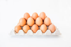 Isolated eggs. Royalty Free Stock Images
