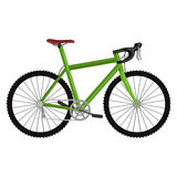 Isolated electric bicycle for sport or urban city ride Royalty Free Stock Photos