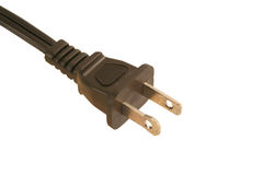 Isolated Electric cord plug Royalty Free Stock Photo