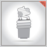 Isolated electric off technical lamp set white shutdown power vector Stock Images