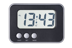 Isolated electronic clock Royalty Free Stock Image