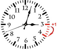 Isolated electronic wall clock. Royalty Free Stock Photography