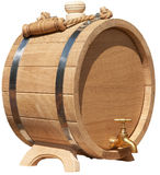 Isolated elegant handmade barrel Royalty Free Stock Images