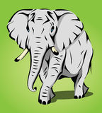 Isolated elephant. Vector illustration of isolated elephant stock illustration