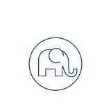 Isolated elephant silhouette design Royalty Free Stock Photography