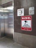 Isolated Elevator Risk Stock Photo