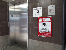 Isolated Elevator Risk Royalty Free Stock Photo