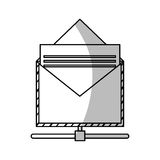 Isolated email envelope design. Envelope icon. Email mail message letter and marketing theme. Isolated design. Vector illustration vector illustration
