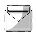 Isolated email envelope design. Envelope icon. Email mail message letter and marketing theme. Isolated design. Vector illustration royalty free illustration
