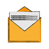 Isolated email envelope design Royalty Free Stock Photo