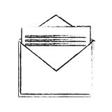 Isolated email envelope design Stock Photography