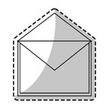 Isolated email envelope design Royalty Free Stock Image