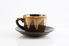 Isolated Empty brown Ceramics cup Royalty Free Stock Photos