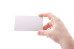 Isolated empty business card Royalty Free Stock Image