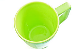 Isolated empty green cup Stock Photo