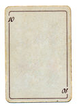Isolated empty old playing card paper with number ten Stock Images