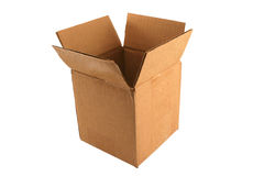 Isolated Empty open cardboard box Royalty Free Stock Photo