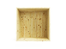 Isolated empty pine box Stock Image