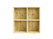Isolated empty pine box Stock Images