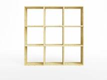 Isolated empty pine shelf Royalty Free Stock Images