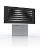 Isolated empty school blackboard with lines Royalty Free Stock Images