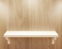 Isolated Empty shelf for exhibit Royalty Free Stock Photos