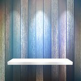 Isolated Empty shelf for exhibit on wood. + EPS10 Stock Image