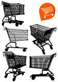 Isolated Empty Shopping Cart Royalty Free Stock Images