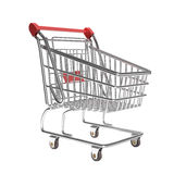Isolated empty shopping cart Royalty Free Stock Photography