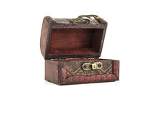 Isolated empty treasure chest Royalty Free Stock Photography